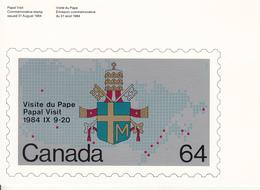 Canada (1984) - Cartolina Ricordo Del Viaggio Del Papa Giovanni Paolo II - 1953-.... Regno Di Elizabeth II