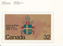 Canada (1984) - Cartolina Ricordo Del Viaggio Del Papa Giovanni Paolo II - Storia Postale