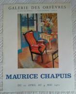 AFFICHE ORIGINALE ANCIENNE EXPOSITION MAURICE CHAPUIS 1971 - Affiches