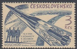 Czechoslovakia Scott 1264 1964 3 Men Space Flight, Mint Never Hinged - Czechoslovakia