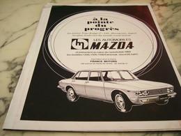 ANCIENNE PUBLICITE LES AUTOMOBILES MAZDA 1968 - Voitures