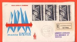 FDC Italia Traforo Monte Bianco 7/1965  Da Courmayeur FDC Busta Venetia - F.D.C.