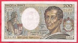 """200 Francs """"Montesquieu"""" --1982 ----F/TTB+---Série  F.010 - 1962-1997 ''Francs''"""