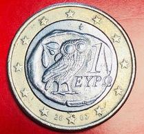 GRECIA - 2002 - Moneta - Civetta - Euro - 1.00 - Grecia