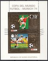 Guinea Equatoriale 1974 Soccer Football FIFA World Cup Germania Munich Ecuatoriale Rimet - Guinée Equatoriale