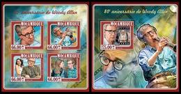 Mozambique 2015 Woody Allen  Klb + S/s MNH - Célébrités