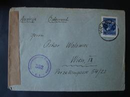 Jugoslawien, Zensurpostbrief , Österreichische Zensurstelle 352, Kranj - Wien, Gelaufen 1948 - 1945-1992 Sozialistische Föderative Republik Jugoslawien