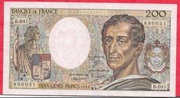"""200 Francs """"Montesquieu"""" --1986 ----VF/SUP---Série  B.041 - 1962-1997 ''Francs''"""
