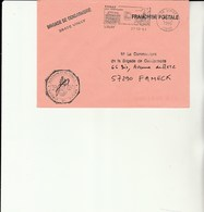 L 3 -  Enveloppe  Gendarmerie  VINAY - Marcophilie (Lettres)