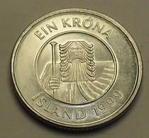 1999 - Islande - Iceland - 1 KRONA - KM 27a - Islande