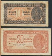 °°° JUGOSLAVIA - 10 20 DINARA 1944 °°° - Jugoslavia