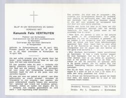 DOODSPRENTJE KANUNNIK VERTRUYEN PASTOOR KORTENAKEN MECHELEN HOOGSTRATEN ° SCHERPENHEUVEL 1914 + 1976 - Images Religieuses