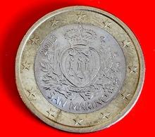 SAN MARINO - 2013 - Moneta - Stemma Ufficiale Della Repubblica - Euro - 1.00 - San Marino