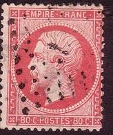 1862 - N°24 NAPOLEON III 80 C ROSE - 1862 Napoleon III