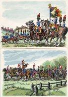 Lot De 12 Cartes De Voeux ( Fait à La Main / Monaco ) - Militaria