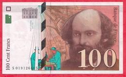 """100 Francs """"Cézanne"""" 1997---XF/SUP+-----N° S 019126465 - 1992-2000 Dernière Gamme"""