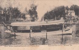 Vintage 1907 - Windsor Mills Québec - Hebert Island & Launch On St. Francis River - Written - VG Condition - 2 Scans - Quebec