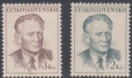 Czechoslovakia Scott 1512-1513 1967 President Antonin Novotny, Mint Never Hinged - Czechoslovakia