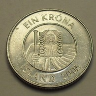 2005 - Islande - Iceland - 1 KRONA - KM 27a - Islandia