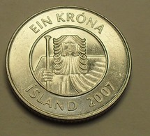 2007 - Islande - Iceland - 1 KRONA - KM 27a - Islandia