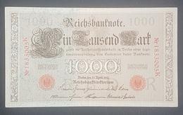 EBN12 - Germany 1910 Banknote 1000 Mark Pick 44b - Red Seal & Serial 7 Digits - [ 2] 1871-1918 : Duitse Rijk