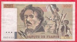 "100 Francs ""Delacroix"" 1989------F/TTB+---Série L.131 - 1962-1997 ''Francs''"