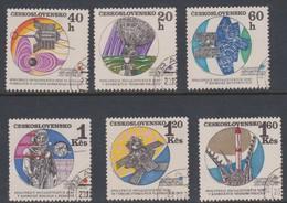 Czechoslovakia Scott 1716-1721 1970 Interkosmos, Used - Czechoslovakia
