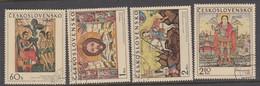 Czechoslovakia Scott 1722-1725 1970 Slovak Icons, Used - Czechoslovakia