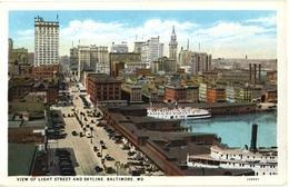 CPA DE BALTIMORE - MARYLAND  (ETATS-UNIS)  VIEW OF LIGHT STREET AND SKYLINE - Baltimore