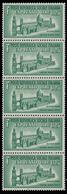 Italia: R.S.I. - Espresso Duomo Di Palermo Lire 1,25 Verde (5 Valori / Verticali) - 1944 - 4. 1944-45 Repubblica Sociale