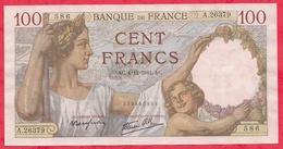 """100 Francs """"Sully"""" Du 04/12/1941.AC-----XF/SUP+--Série A.26379--AUCUN TROU D EPINGLE -TRES BEAU BILLET - 1871-1952 Anciens Francs Circulés Au XXème"""