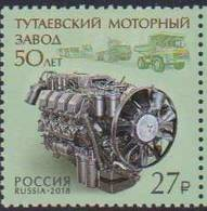 RUSSIA, 2018, MNH,ENGINES, MOTOR PLANTS, VEHICLES,1v - Factories & Industries