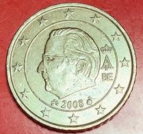 BELGIO - 2008 - Moneta - Effige Di  Re Alberto II - Euro - 0.50 - Belgio