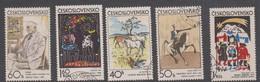 Czechoslovakia Scott 1806-1810 1972 Graphic Art, Used - Czechoslovakia