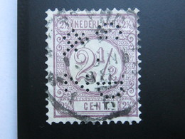 NEDERLANDE  ,   Firmenlochung , Perfin - 1852-1890 (Guillaume III)