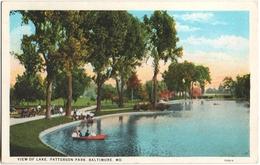 CPA DE BALTIMORE - MARYLAND  (ETATS-UNIS)  VIEW OF LAKE, PATTERSON PARK - Baltimore