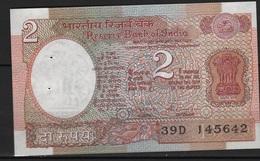 B 50 - INDE Billet De 2 Rupee état Neuf - India