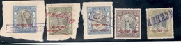 INDIA(Jaipur)1932-46:Lot Of 5used Court Fee Stamps(3 Still On Piece ) - Jaipur