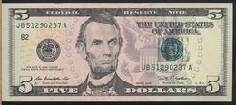 °°° USA - 5 $ DOLLAR 2009 °°° - Billets De La Federal Reserve (1928-...)