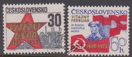 Czechoslovakia Scott 1866-1867 1973 25th Anniversary Communist Revolution, Used - Czechoslovakia
