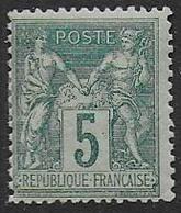 Sage - N° 75  *  - Cote 45 € - 1876-1898 Sage (Type II)
