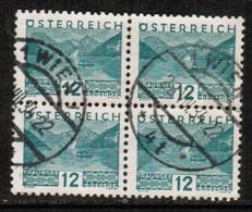 AUSTRIA  Scott # 341 VF USED BLOCK Of 4 (Stamp Scan # 450) - Blocks & Sheetlets & Panes