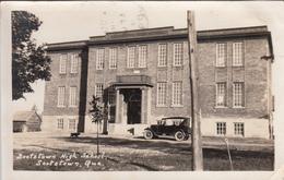 Real Photo Véritable - Scotstown High School École Québec - Car 1930s - Acceptable Condition - See 2 Scans - Quebec