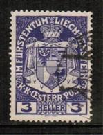 LIECHTENSTEIN  Scott # 4 VF USED (Stamp Scan # 450) - Liechtenstein