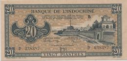 INDOCHINE   20  Piastres   Nd(1942)   -- UNC -- - Indocina