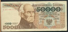 °°° POLAND - 50000 ZLOTYCH 1989 °°° - Polonia