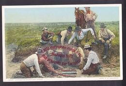 Q0738 - Cowboys Shooting Craps -  Etats Unis - USA - Etats-Unis