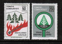 TURKEY  Scott # 2083-4* VF MINT LH (Stamp Scan # 450) - 1921-... Republic