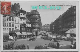 CPA - Lille - La Rue Faidherbe Et La Gare. - Lille