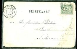 POSTKAART Gelopen In 1904 Van Trajectstempel ALMELO - APELDOORN Naar SCHIEDAM  (11.508a) - Periode 1891-1948 (Wilhelmina)